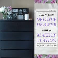 make up dressers how to turn your dresser drawer into a makeup station askproy