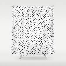 Black And White Polka Dot Curtains Black White Illustration And Pattern Shower Curtains Society6