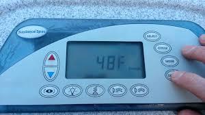 tub not enough 104 temperature override 1 sundance