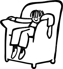 Clipart Armchair Black U0026 White Line Drawing Of A Armchair Boy Prawny Clip Art