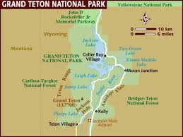 grand map map of grand teton national park