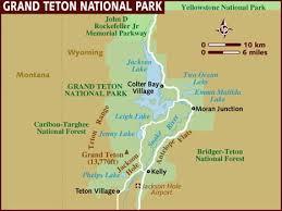 grand map map of grand teton national park