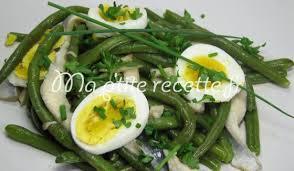 cuisiner haricot vert salade de haricots verts aux harengs recette entrée haricot vert