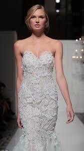 near wedding dresses hit the catwalk at bridal fashion week