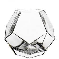 buy geometric glass vase for decoration or plant terrariums containers