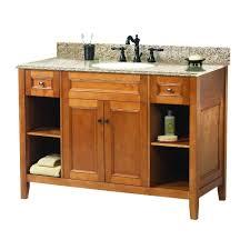 Maple Bathroom Vanity by Foremost Exhibit 49 In W X 22 In D Bath Vanity In Rich Cinnamon