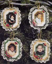 plastic canvas bucilla photo frame ornament kit set of 4