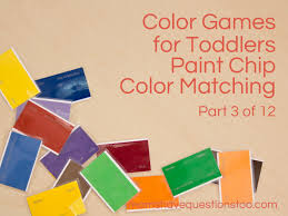 matching paint color games for toddlers part 3 paint chip matching moms have