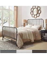 Antique White Metal Bed Frame Savings On Gulliver Vintage Antique Spiral King Iron Metal Bed By