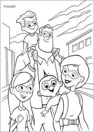 coloring incredible family mother