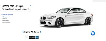 see the bmw m2 in the four different colors