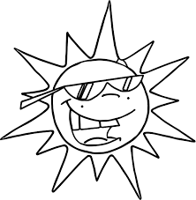 summer funny sun coloring page wecoloringpage
