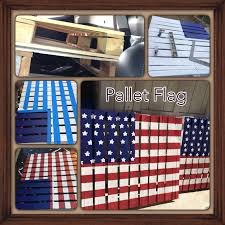 Pallet American Flag Pallet American Flag Colors By Behr Blue Nobility Blue Red
