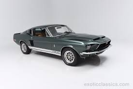 Classic Black Mustang 1968 Ford Mustang Gt500 Exotic And Classic Car Dealership