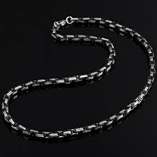 mens chain necklace silver images Mechanic style stainless steel mens necklace chain 55 cm silver jpg