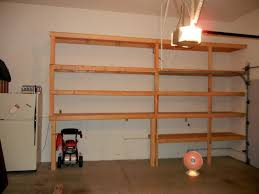 homemade garage shelves wood simple homemade garage shelves