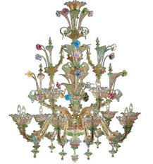 Chandelier Choreography Coreography Chandelier Made Murano Glass Original Product