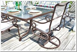 Patio Furniture Metal How To Paint Outdoor Furniture With Sling Seats Inmyownstyle