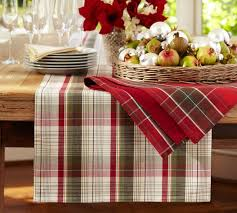pottery barn table cloth table designs