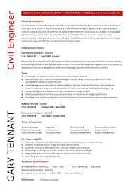 civil engineering resume format for fresher template engineer