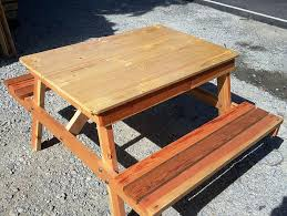 Diy Wood Picnic Table by Diy Upcycled Wood Pallet Picnic Table 101 Pallets