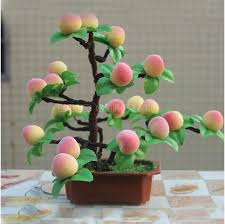artificial decorative trees for the home novelty artificial flower plants simulation peach tree bonsai for