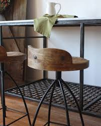 Metal Bar Stools With Wood Seat Furniture Awesome Industrial Bar Stool For Your Kitchen Counter