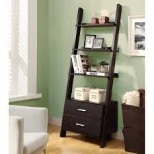 coaster 4 drawer ladder style bookcase leaning ladder bookcases and bookshelves hayneedle