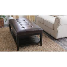leather ottoman round coffee table leather coffee table with storage ottoman and coffee