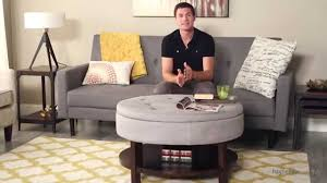 upholstered coffee table storage bench product review video