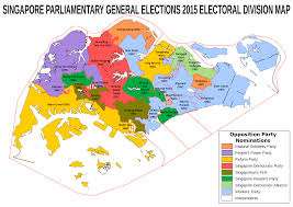 Create Electoral Map File Map Of Contested Electoral Divisions In The Singaporean