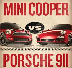 mini cooper porsche mini cooper vs porsche 911 6speedonline porsche forum and