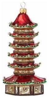ornament glass pagoda