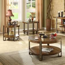 riverside sierra round 3 piece coffee table set hayneedle
