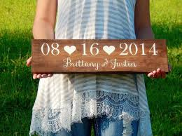 wedding gift name sign wedding date sign wooden wedding name sign save the date prop