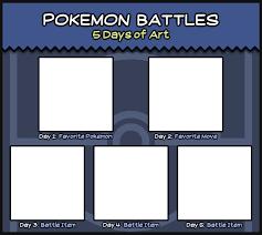 Pokemon Meme Generator - pokemon battles 5 days of art meme template by peekingboo on
