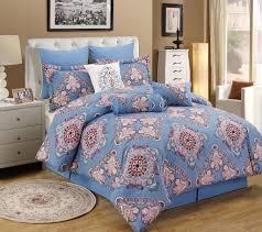 Callisto Home Pillows by 9 Piece Tivoli Blue Pink Comforter Set