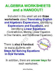 translating verbal expressions into algebraic expressions worksheets best 25 translating algebraic expressions ideas on