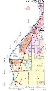 Rockford Illinois Map by City Of Pekin From The History Room