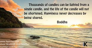 quote happiness only real when shared buddha kquotes