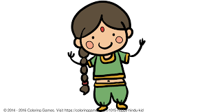 happy hindu kid coloring games and coloring pages
