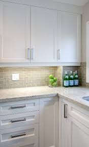 Subway Tile Backsplash Kitchen by Smoke Glass Subway Tile White Shaker Cabinets Shaker Cabinets