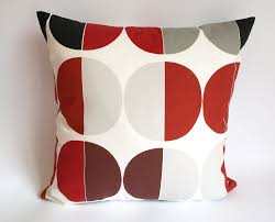 White Bedroom Throw Pillows Nuwzz Pillow Cover White Burgundy Red Black Grey Circles