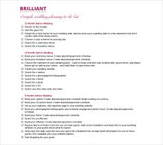 26 wedding itinerary templates u2013 free sample example format