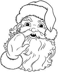 santa claus colouring pages 18