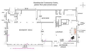 Rental House Plans by Scandinavian Community Centre Facilities Rental