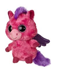 fuschia fuschia pegasus plush animal toy by aurora