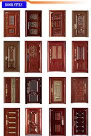 2016 mother and son wooden door safety steel security metal door