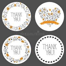 thank you tags set of thank you tags decorative frames gift tags labels vector