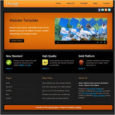 orange free website templates in css html js format for free